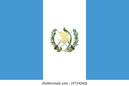 Flag of Guatemala. Accurate dimensions, element proportions and colors.