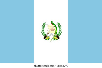 Flag of Guatemala. Illustration over white background