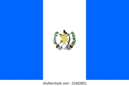 Flag of Guatemala, national country symbol illustration
