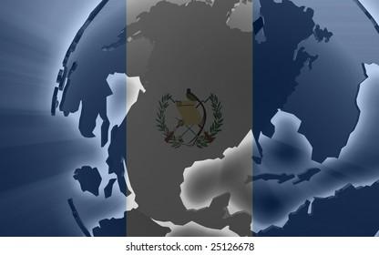 Flag of Guatemala, national country symbol illustration