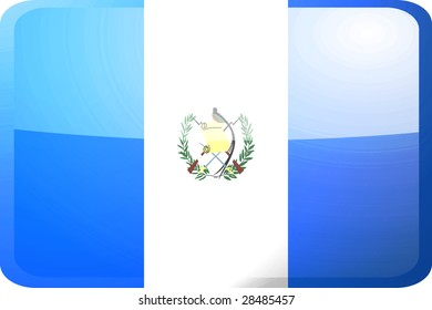 Flag of Guatemala, national country symbol illustration glossy button icon