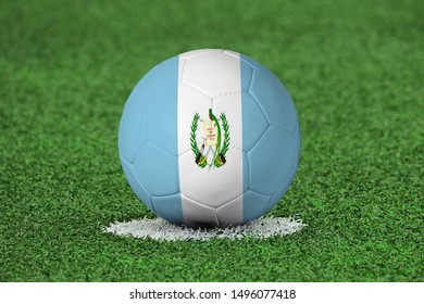 Flag of Guatemala on Football Guatemala Flag on soccer ball