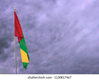 Flag of Guinea-Bissau hanging down dangling