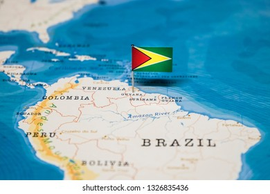 Guyana Location On World Map.Map Of Guyana Images Stock Photos Vectors Shutterstock