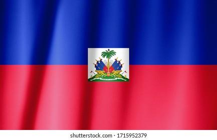 Flag of Haiti waving. National Haiti Flag for Independence day.