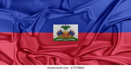 Flag of Haiti waving in the wind