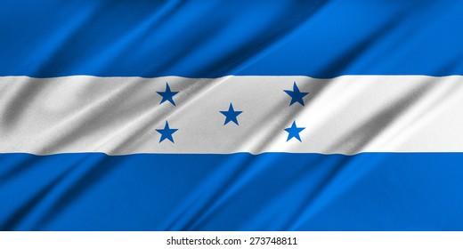 Flag of Honduras waving in the wind