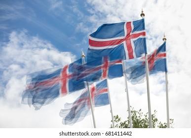 Flag of Iceland on the Icelandic National Day