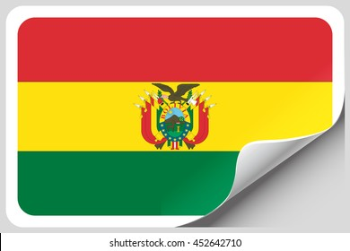 A Flag Illustration of the country of Bolivia