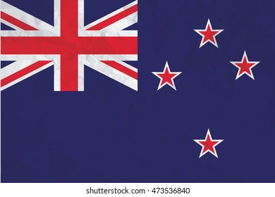A Flag Illustration of the country of New Zealand