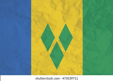 A Flag Illustration of the country of Saint Vincents and the Grenadines