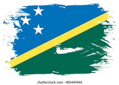 A Flag Illustration of the country of Solomon Islands
