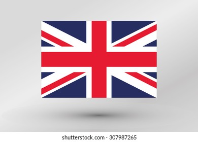 A Flag Illustration of the country of  United Kingdom