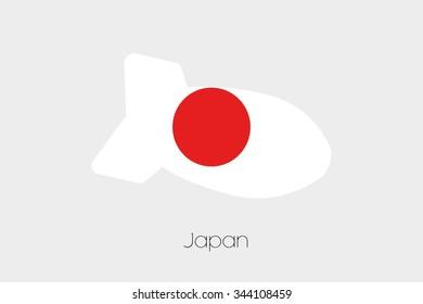 A Flag Illustration of Japan