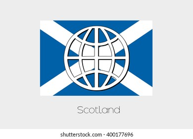 A Flag Illustration of Scotland
