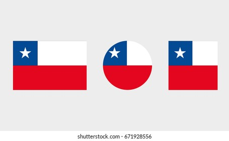 Flag Illustrations of the country  of Chile