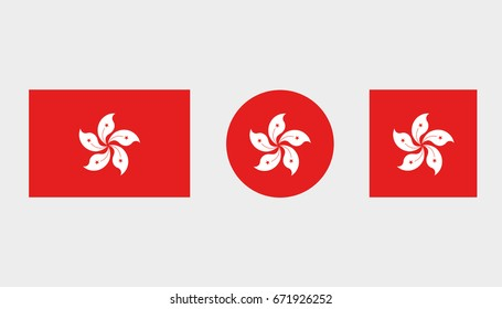 Flag Illustrations of the country  of Hong Kong