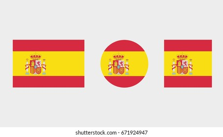 Flag Illustrations of the country  of Spain