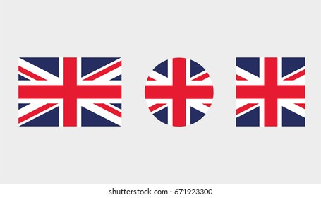 Flag Illustrations of the country  of United Kingdom