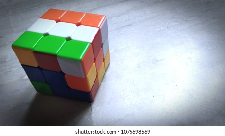 Flag of India in 3x3 Rubic Cube.
