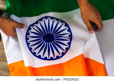 Flag of India. August 15th Independence Day of the Republic of India. Constitution day.