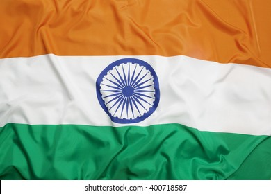 Flag of India as a background