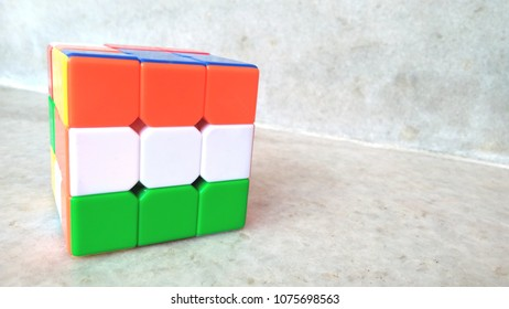 Flag of India seen in Rubic Cube.