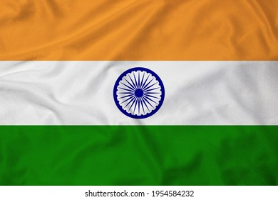 Flag of India with texture