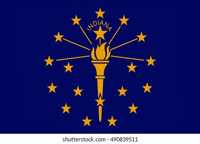 Flag of Indiana is a state in United States