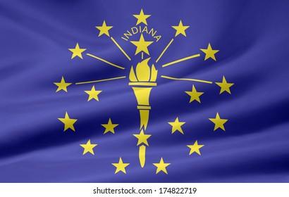 Flag of Indiana - USA