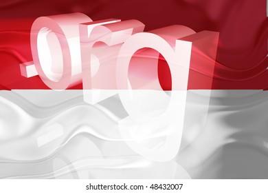 Flag of Indonesia, national country symbol illustration wavy org organization website