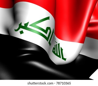 Flag of Iraq. Close up.