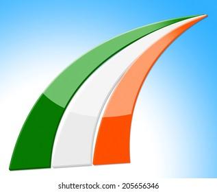 Flag Ireland Showing Patriotism Nation And European