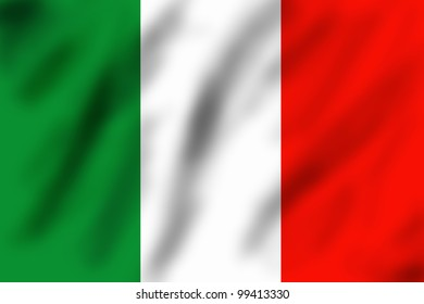 Flag of Italy, 3d illustration