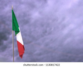 Flag of Italy hanging down dangling