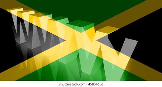 Flag of Jamaica, national country symbol illustration www internet e-commerce