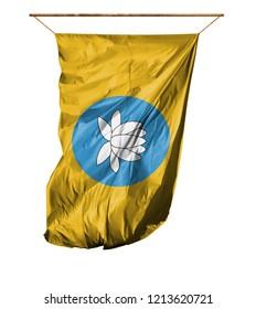 Flag of Kalmykia. Isolated on a white background.