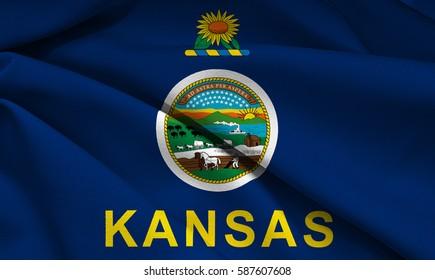 Flag of Kansas state (USA)
