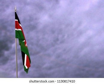 Flag of Kenya hanging down dangling
