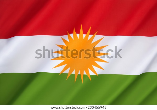 Flag of Kurdistan - currently used as the official flag of the autonomous Kurdistan Region in Iraq which is under control of the Kurdistan Regional Government. Banned in Turkey, Iran and Syria.