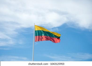 Flag of Lithuania. Lithuanian flag.