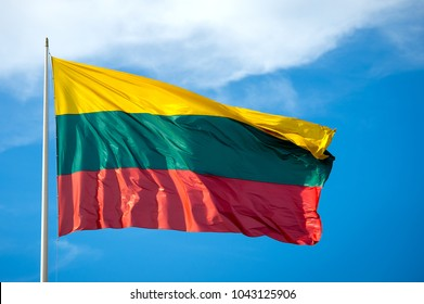 Flag of Lithuania. Lithuanian flag.