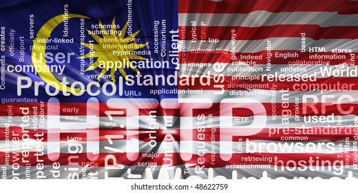 Flag of Malaysia, national country symbol illustration wavy http internet www
