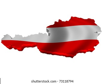 Flag and map of Austria