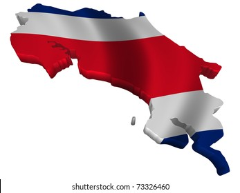 Flag and map of Costa Rica