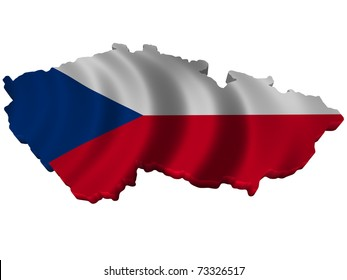 Flag and map of Czech Republic