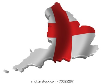 Flag and map of England