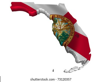 Flag and map of Florida