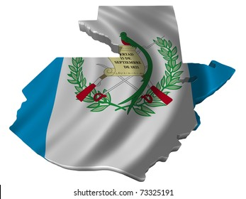 Flag and map of Guatemala