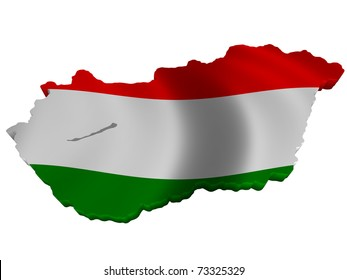 Flag and map of Hungary